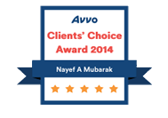 Orlando Immigration Lawyer Nayef Mubarak AVVO's Client Choice 2014