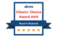 Orlando Immigration Lawyer Nayef Mubarak AVVO's Client Choice 2015