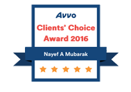 Orlando Immigration Lawyer Nayef Mubarak AVVO's Client Choice 2016