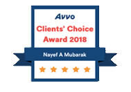 Orlando Immigration Lawyer Nayef Mubarak AVVO's Client Choice 2018