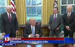 President Donald Trump Signs Executive Order, Suspends Immigration From Seven Nations - Video