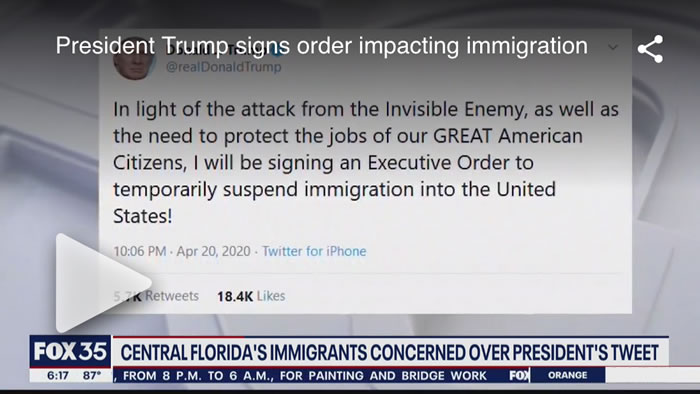 Watch Video: Trump's tweet to suspend immigration creates concern for Florida's immigrant population